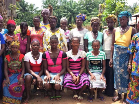 photo of Manty's Ebola Recovery Farmers Group