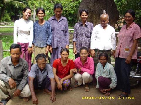 photo of Mrs. Sorn Ra's Village Bank Group