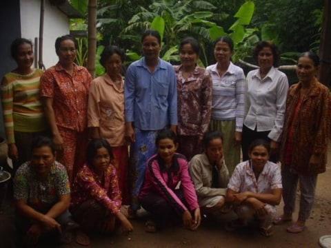 photo of Mrs. Samphos Soen Village Bank Group