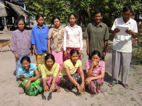 photo of Mrs. Oem Lon Village Bank Group