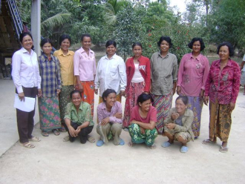 photo of Mrs. Sinath Khut Village Bank Group